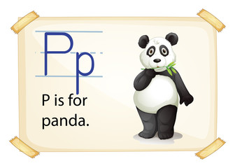 A letter P for panda