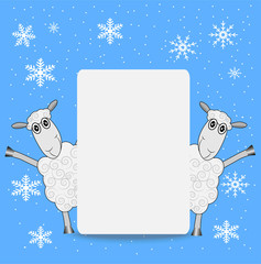 two merry sheep and clean banner
