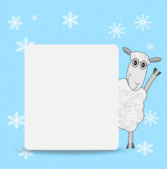 merry sheep and clean banner