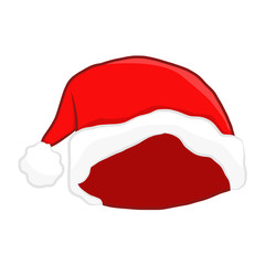 Santa hat isolated illustration
