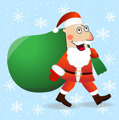Santa claus with the sack of gifts