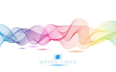 rainbow colorful gradient light waves line bright abstract