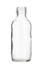 Clear Glass Bottle isolated on white background
