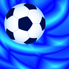 Ball on abstract background