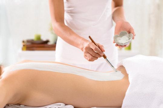 Applying beauty treatment