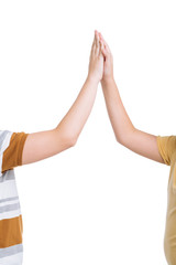 Giving high five