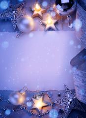Art Christmas greeting card