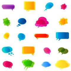 bubbles speech, no transparencies