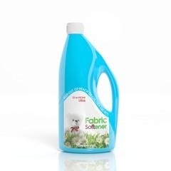 3D Fabric Softener plastic bottle isolated on white background