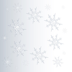 Winter background of snowflakes.