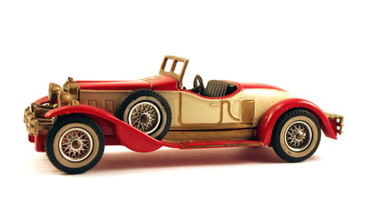 Picture of a 1931 stutz bearcat classic toy car, isolated