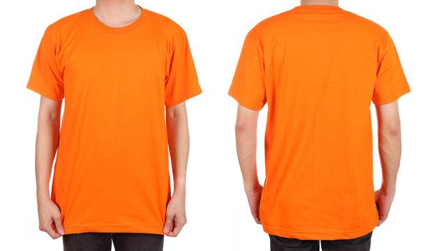 blank white t-shirt set on man