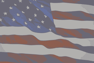 Vintage flag of the United States of America