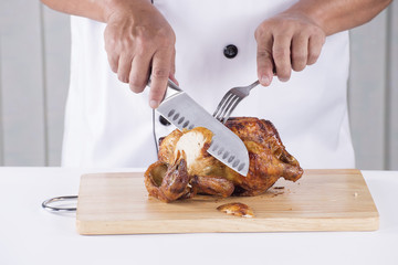 Chef cut Grilled turkey