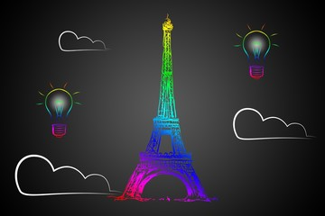 Paris art design illustration