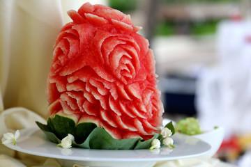 fruit sculpture flower