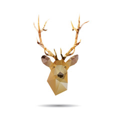 Deer head abstract isolated on a white backgrounds, vector illus