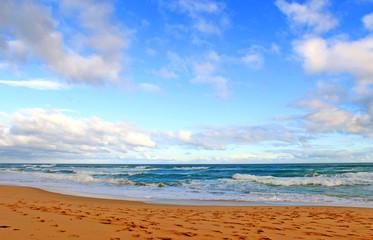 Blue sky and ocean beach