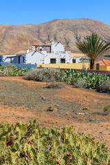Typical Canary style house in rural area of Fuerteventura island
