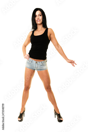 """Fille Fitness Photo fille fitness isolé sur fond blanc"""" stock photo and royalty-free"""