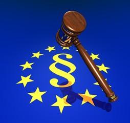 EU-Rights, Hammer and Paragrph sign