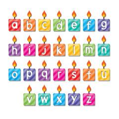 alphabet candles