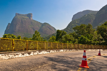 Mountain Road with Scenic View of Mountains in Rio