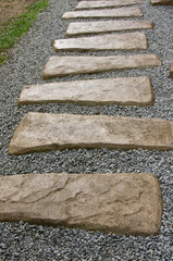 Stone path - Stone path in the park
