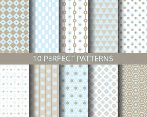 10 geometrical retro patterns