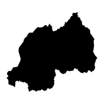 vector map of Rwanda