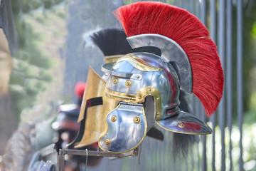 metallic gladiator copper and iron helm