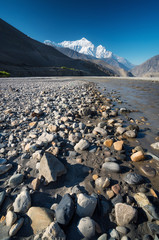 Stones in river. Beautiful natural landscape