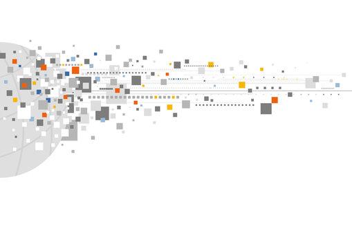 World digital design on white background