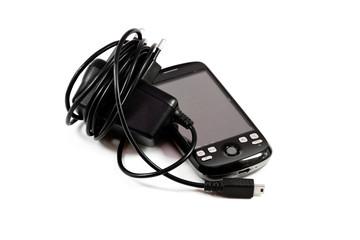 Handy mit Aufladekabel