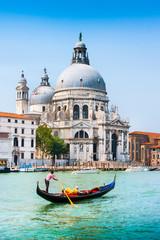 Photo sur Plexiglas Venice Gondola on Canal Grande with Santa Maria della Salute, Venice