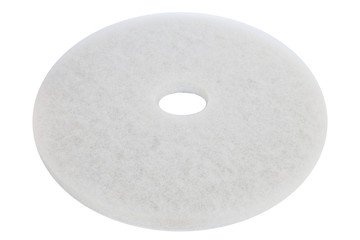 Floor polishing pad isolated on white background