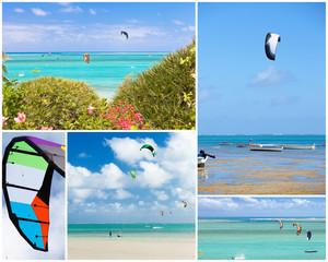 kite-surf à l'île Rodrigues, Maurice