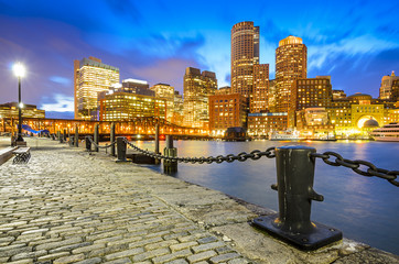 Boston, Massachusetts Skyline at Fan Pier
