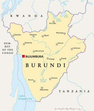 Burundi Political Map