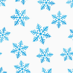 abstract winter seamless background with snowflakes motive
