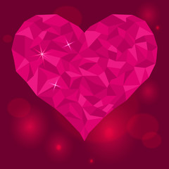 Valentines-day-love-heart-on-purple-red-background