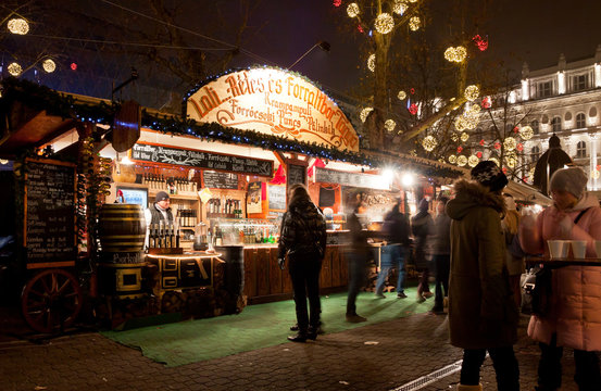 New Year's market in Budapest