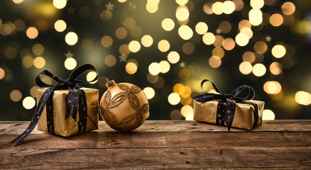 golden night christmas