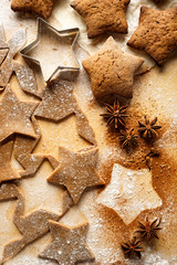 Gingerbread stars. Christmas cakes