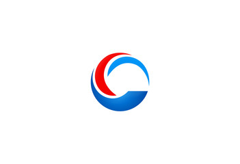 circle C letter vector logo
