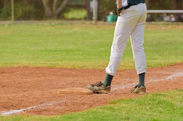 Baseball player on the third base