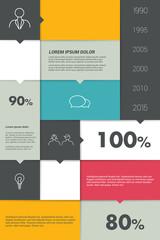 Colorful box diagram. Infographics module chart.