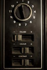 Retro TV controller ,vintage filtered.