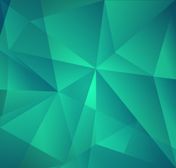 Vector Abstract Green Triangle Background