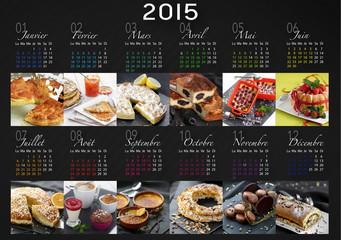 calendrier 2015 français (photos desserts)